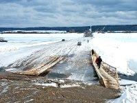 Проезд через ледовую переправу закрыт