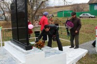В д.Мрясимово открылась памятная стела в память ветеранам ВОВ