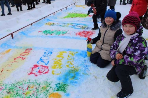 Караидельцы весело отметили Всемирный день снега