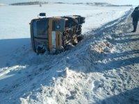 В Башкирии перевернулся школьный автобус