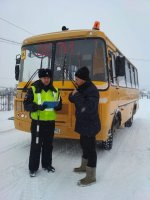 Сотрудники ГИБДД  района осуществляют проверку автобусов